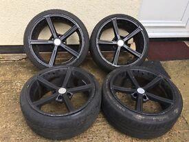 18 alloys whith mint tyres Ac schnitzer 5x120