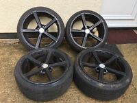 18 alloys whith mint tyres Ac schnitzer 5x120