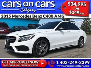 2015 Mercedes Benz C-Class C400 AMG PKG 4MATIC w/Leather, PanoRo
