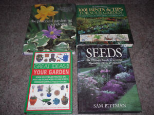 4 gardening books for $10