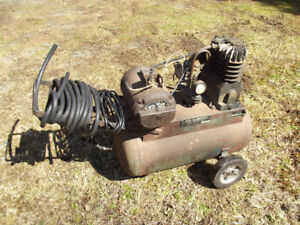 VINTAGE, WORKING, AIR-O MATIC COMPRESSOR-MADE IN CANADA!