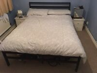 House clearance - double bed frame, table, chairs and books