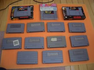 (14)  SUPER NINTENDO GAMES CARRIER ACES, ASP, NHL STANLEY CUP London Ontario image 2