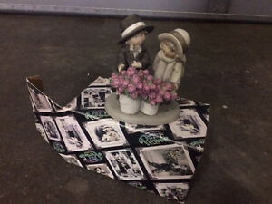 Pretty as a Picture Plate and ***4 Figurines*** by Kim Anderson Kitchener / Waterloo Kitchener Area image 1