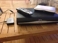Sky +HD box, remote, booster and router