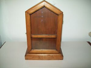 ANTIQUE BEAUTIFULLY REFINISHED PINE  DISPLAY OR CLOCK  CASE