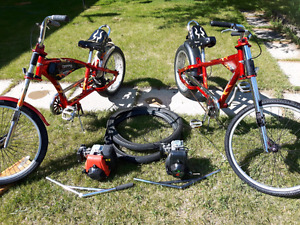 Two chopper bike with 4 strokes motor/engine