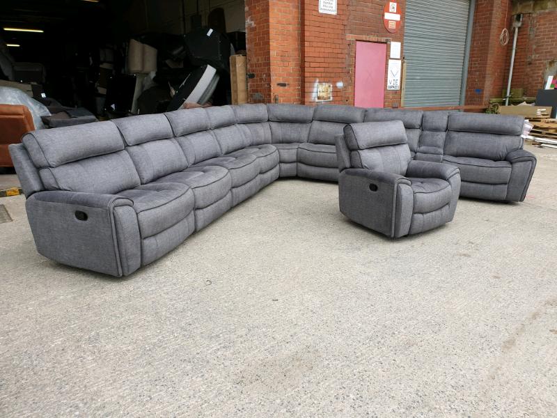 New Harveys Brooklyn Extra Large Corner Sofa Power