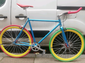 Custom build single speed fixe gear road bike hybrid bicycle brand New