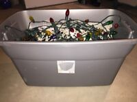 30 Gallon Container full of Christmas Lights