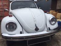 Classic Volkswagen Beetle, solid car.