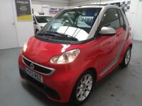 2013 Smart Fortwo 1.0 CONVERTIBLE Passion, ONLY 16k, new MOT & 12 MONTH WARRANTY