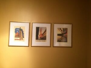 3 Framed poster from Italy