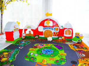 "Tapis ""Ma petite ville Fisher Price"" avec 4 modules + voitures"
