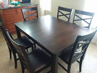 Leon's Dining Table with Chairs (Moving Sale)