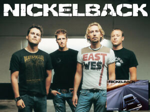 Pair Nickelback tickets Tuesday Calgary Next to Stage!
