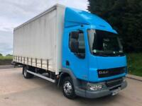 2013 63 DAF LF 45.160 EEV 21ft curtainsider, 210kms, manual