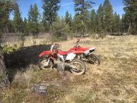 Stolen.   2013 crf230f and 2002 crf450r.