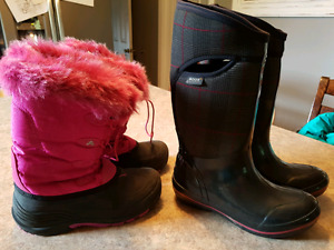 Yputh Girls Boggs size 7 & winter boots size 5