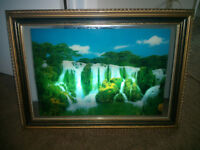 Moving Waterfall Picture with Frame