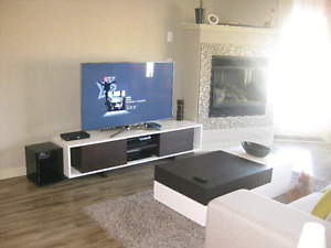 Modern style TV stand and coffee table