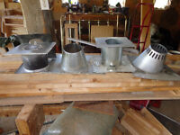 flashing an thimbles for pellet stove