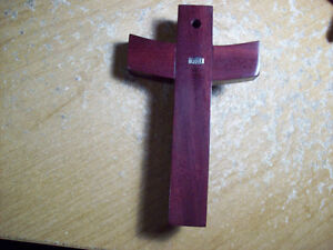 Sterling silver and rosewood modernistic crucifix London Ontario image 2