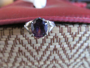 925 SOLID STIRLING SILVER AMETHYST RING