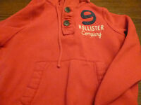 Red Hollister hoodie - size M