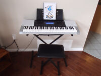Casio 61 key touch sensitive keyboard with stand & bench (mint)