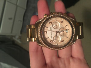 Rose gold MK watch