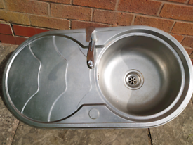 Oval sink drainer and mixer taps for sale