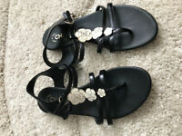Authentic Chanel leather sandals. Used in very good condition.