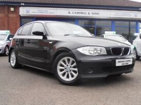 BMW 1 SERIES 118D ES 6 Speed 120BHP (black) 2006