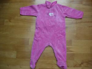 Pyjama rose de marque francaise Natalys - 6 mois