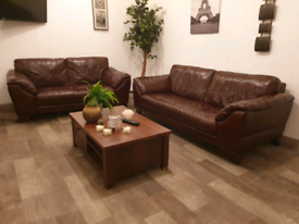 DFS GENUINE LEATHER 3+2 SEATER SOFAS