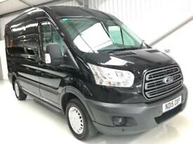 2015 FORD TRANSIT TREND LOW MILEAGE BLACK 2.2TDCi 125PS MEDIUM MWB WHEELBASE