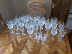 Crystal ware 43 pieces never used