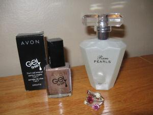 Perfume, nail polish and ring for sale