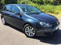 2011 11 VOLKSWAGEN GOLF 1.6 MATCH TECH TDI 5DR 103 BHP DIESEL, GENUINE 81K MILES