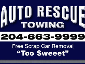 AUTO. RESCUE. TOWING ** 204-663-9999 **