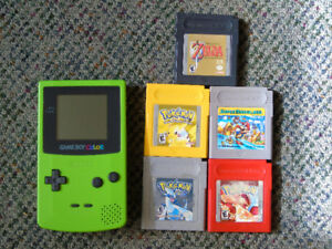 Nintendo Gameboy Color (LIME) With GAMES