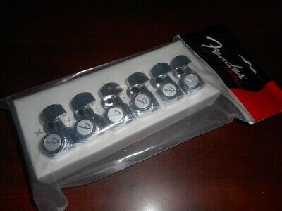 099-0818-102 Fender Chrome Left-Handed Locking Tuners Strat//Tele Guitar