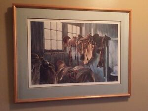 Beautiful 1981 Western horse Saddle Print Signed West Island Greater Montréal image 1
