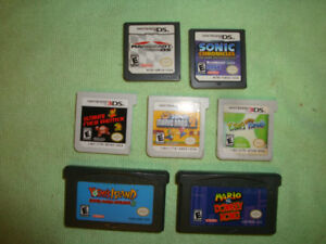 Wii U, GBA, NES, DS, 3DS stuff for sale.