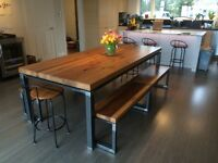 Rustic/modern harvest dining room table