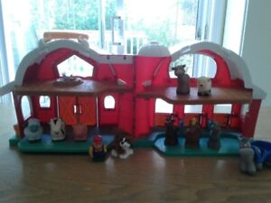 Fisher Price Barn with Family & Animals