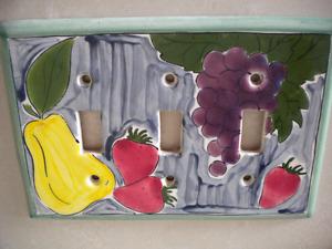 plaque porcelaine /porcelain wall plate