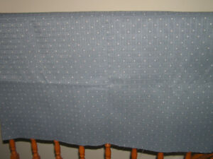 New Unused Blue Upholstery Fabric For Sewing Projects