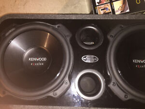 Kenwood  Système 2/12 '' Subwoofer with Amplifier  U S B - Blue